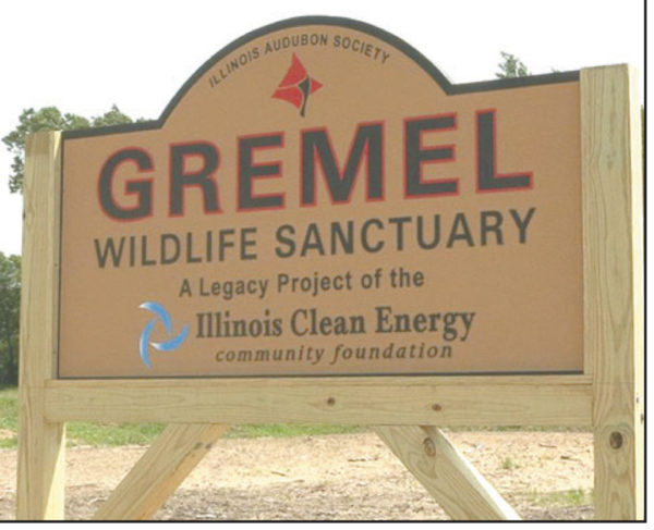 Gremel Wildlife Sanctuary sign