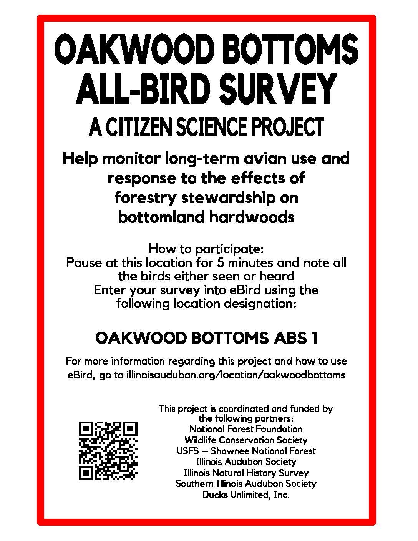 Oakwood Bottoms All-Bird Survey Project - Illinois Audubon Society